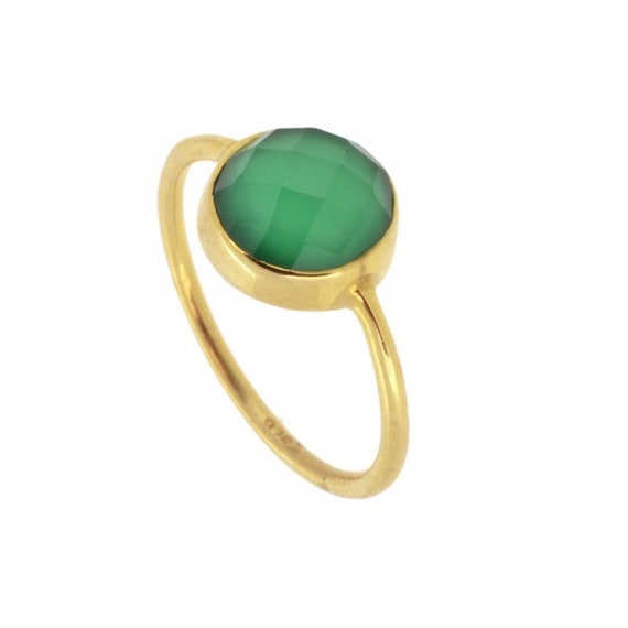 Saturn Ring Green Onyx