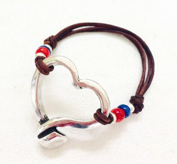 Silver heart bracelet zamak