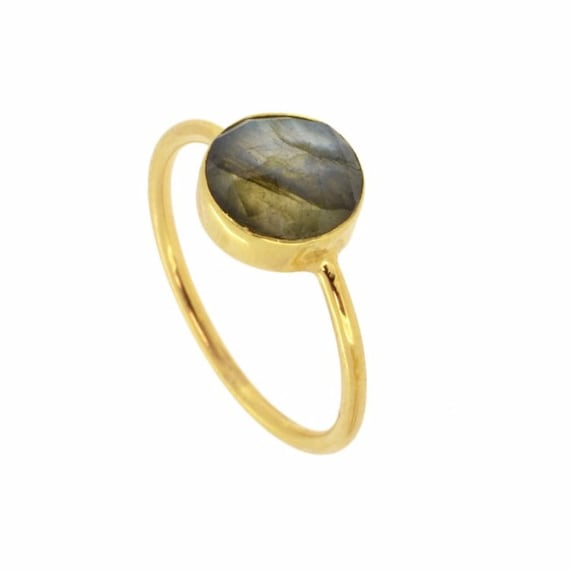 Saturn Labradorite Ring