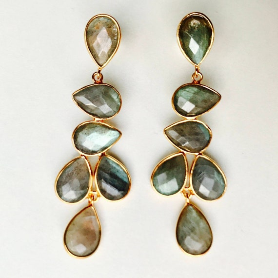 N2 Silver and Mineral Earrings