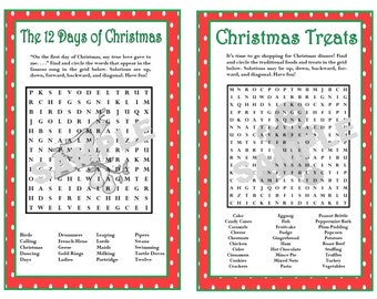words for 12 days of christmas printable