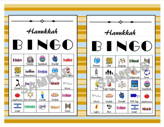 30 Printable Hanukkah Bingo Cards Hanukkah Games Hanukkah Etsy