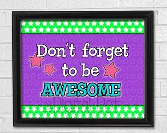 Classroom Printable, Inspirational Poster, Classroom Decor, Instant Download