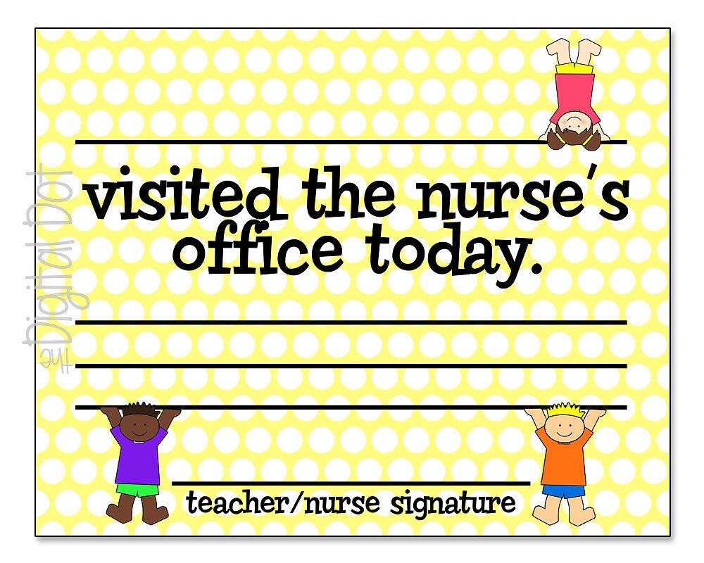 School Nurse Notes Nurse Parent Notes School Nurse Gift | Etsy