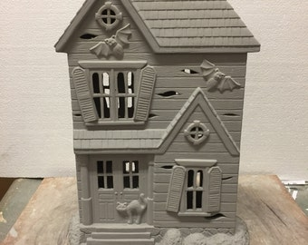 Ceramic Bisque Haunted House Ready to Paint Donna's Molds