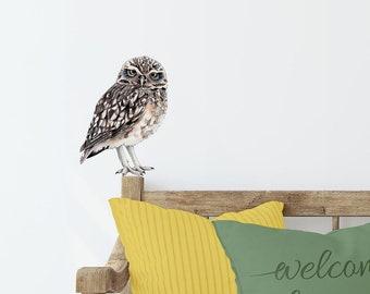 grand Owl Peel Off Stickers Or transparent 1 Feuilles double en relief