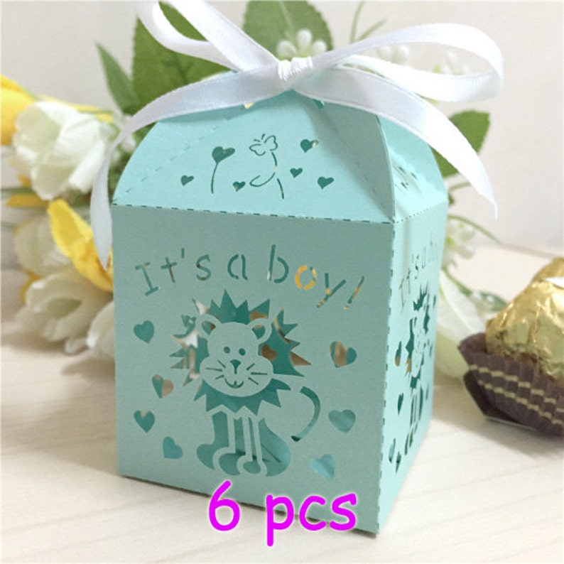 Boy birthday gift box lion king favor box baby shower favor box courage power lion mini cupcake boxex cute birthday party decor paper box