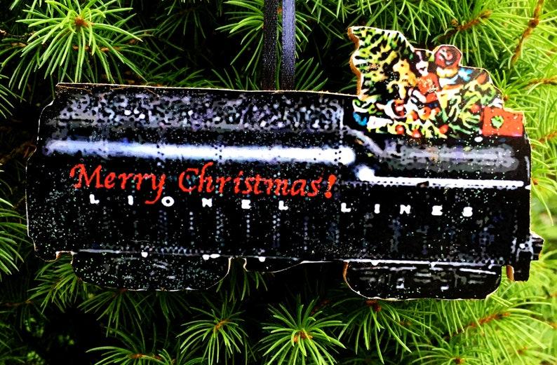 Lionel Christmas Train.Lionel Coal Car Ornament Christmas Train Handcrafted Wood Train Set O Gauge Husband Father Kids Gift Holiday Toys Grab Bag Secret Santa