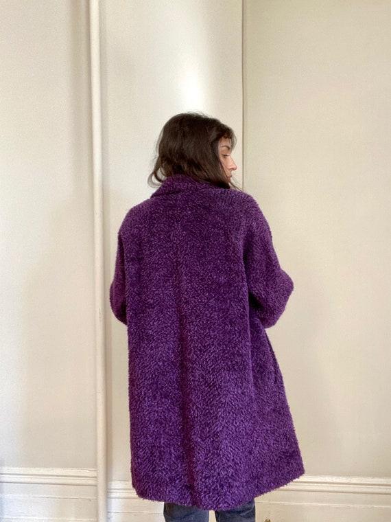 Vintage 80s Bill Blass Purple Coat - image 5