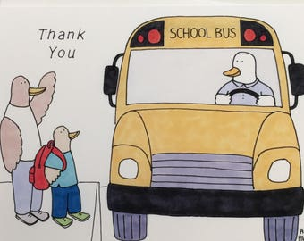 Bus Driver Thank You Card - 5x7