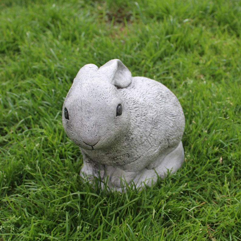 Lop Eared Rabbit Stone Statue Ornament Lawn Decor Made In Cornwall Cornwall Stoneware Garden Decoration Home Living Gift Idea