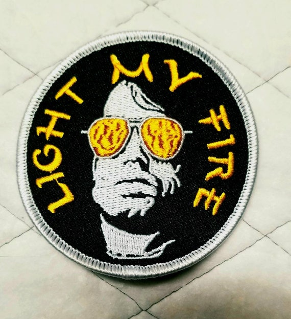 """The Doors~Jim Morrison~Rock /& Roll~Embroidered PATCH~3/"""" x 1 1//16/""""~Iron or Sew"""