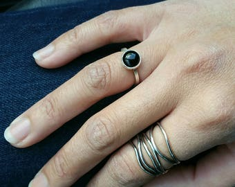 Triple Wave Ring Band- Multi Band Ring - Silver Wavy Ring - Free Form Ring - Sterling Silver - Boho Ring