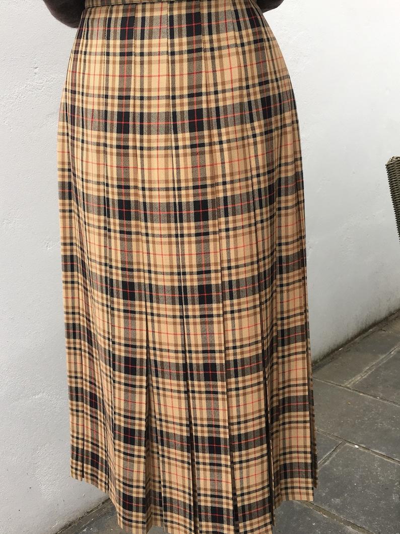 72ea7d14b Vintage 80s St Michael Checked Plaid Tartan Pleated Skirt / | Etsy