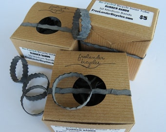 Recycled Bicycle Inner Tube Rubber Bands
