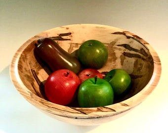 Ambrosia Maple Centerpiece Bowl - Wood Turned Maple Wood Bowl - Large Wood Bowl - Display Bowl - Serving Bowl - Wood Art - Food Safe Bowl