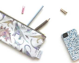 Dancing Dino Personalized Pencil Pouch  Custom Personalized Kids Dinosaur in a Tutu School Pencil Bag  Pencil Case