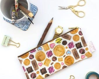School Supplies, Pencil Case, Pencil Pouch, Make Up Bag, Cookie, Pouch, Small Bag, Baking Lover, Zipper Pouch, Bag, pencil bag, organiser