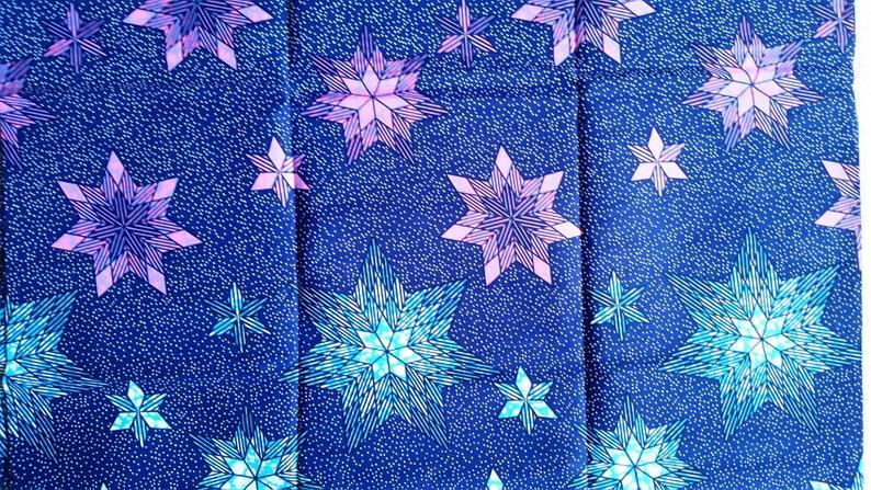 AFRICAN PRINT FABRIC// ANKARA PRINT//100/% COTTON Lilac Blue 6 YARDS Pink