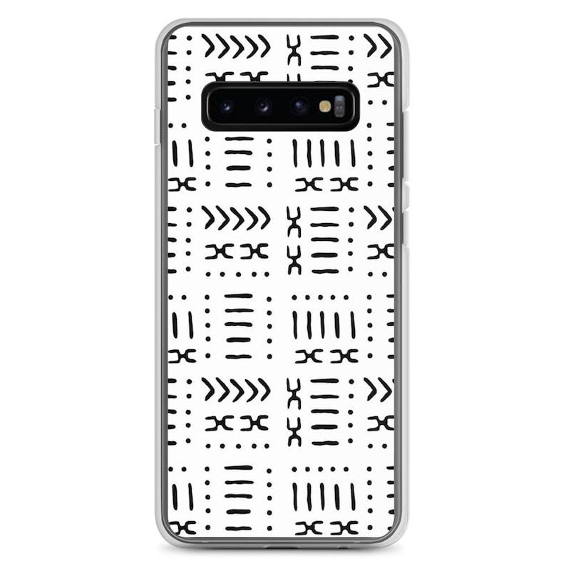 White Mud Cloth African Pattern Samsung Phone Case