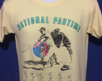 Vintage 1980s Nike Baseball t shirt gray tag *S