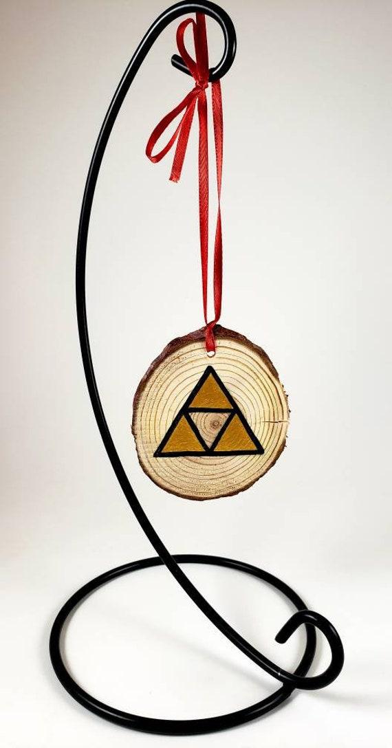 Legend of Zelda wood slice ornament hand painted Triforce   Etsy