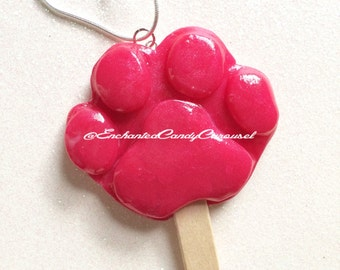 Zootopia Inspired Pawpsicle Pawsicle Paw Print Popsicle Necklace Brooch Or  Earrings Nick Wilde Judy Hopps