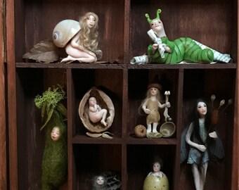Curio Cabinet Shadowbox of Wee Folk