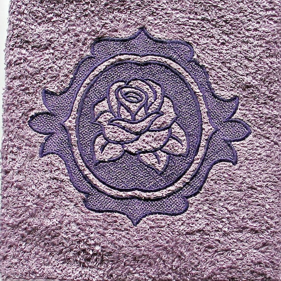 Rose Embroidered Towels: Embroidered Rose Hand Towel Embossed Embroidered Rose