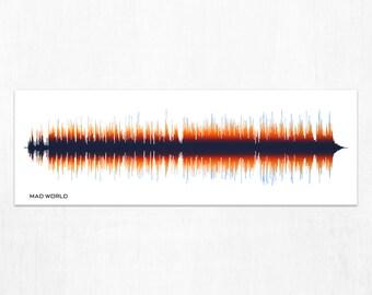 Mad World - Music Sound Wave Wall Art Print