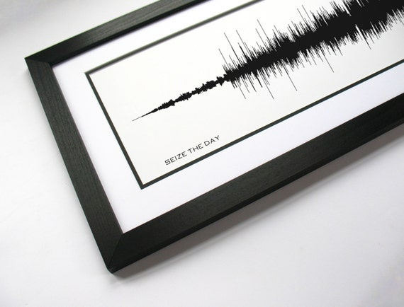 Seize The Day: Song Sound Wave Art Music Lyric Art | Etsy