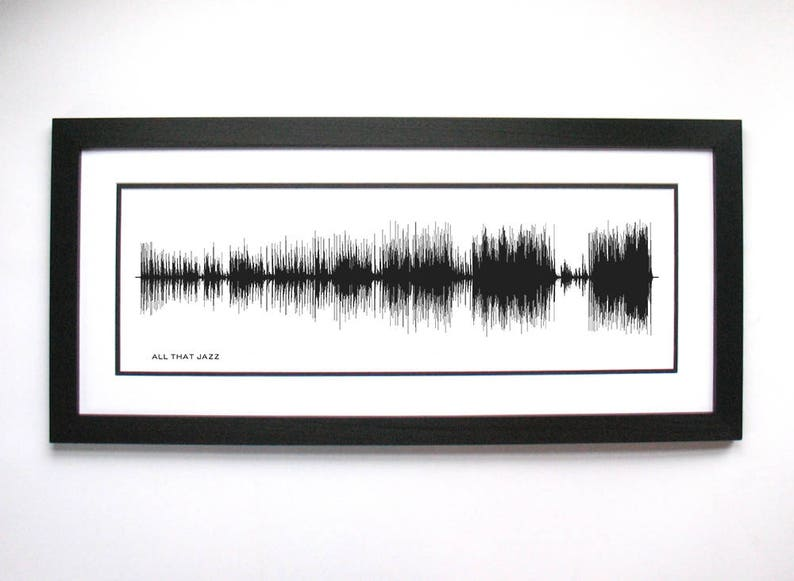 """Broadway Lover, """"All that Jazz"""" Sound Wave Art from Chicago, Broadway Gift,  Musical, Broadway, Chicago Musical Gift, Broadway Art"""