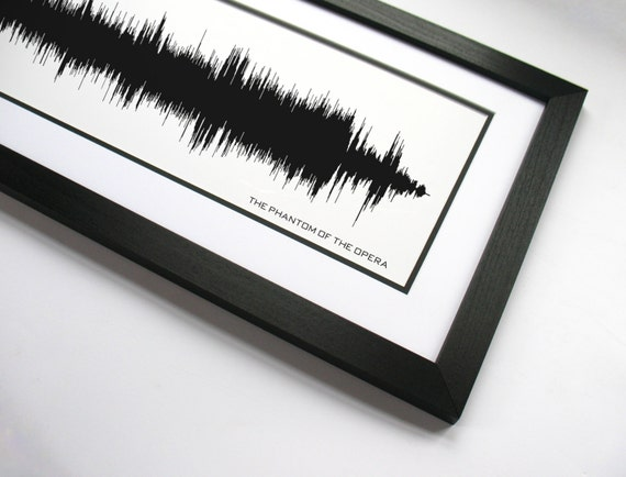 The Phantom of the Opera Sound Wave Art Broadway Gift | Etsy