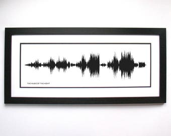"Phantom of the Opera, ""The Music of the Night"" sound wave art, Gift for Broadway Lover, Phantom of the Opera Broadway, Broadway Musical"