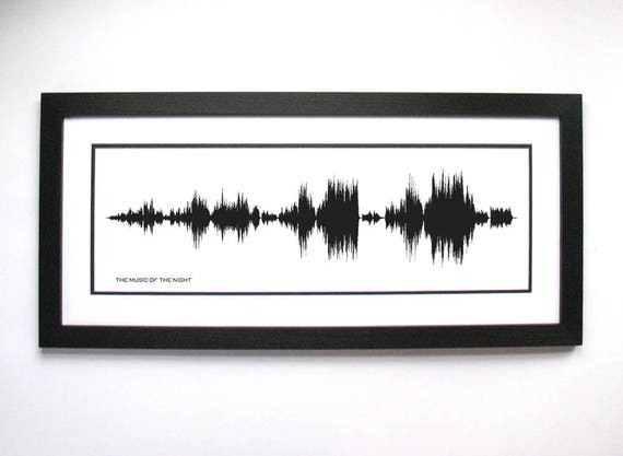 Phantom of the Opera The Music of the Night sound wave art | Etsy