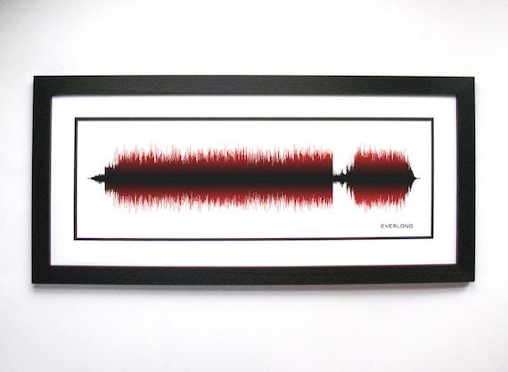 Foo Fighters Everlong Song Soundwave Art | Etsy