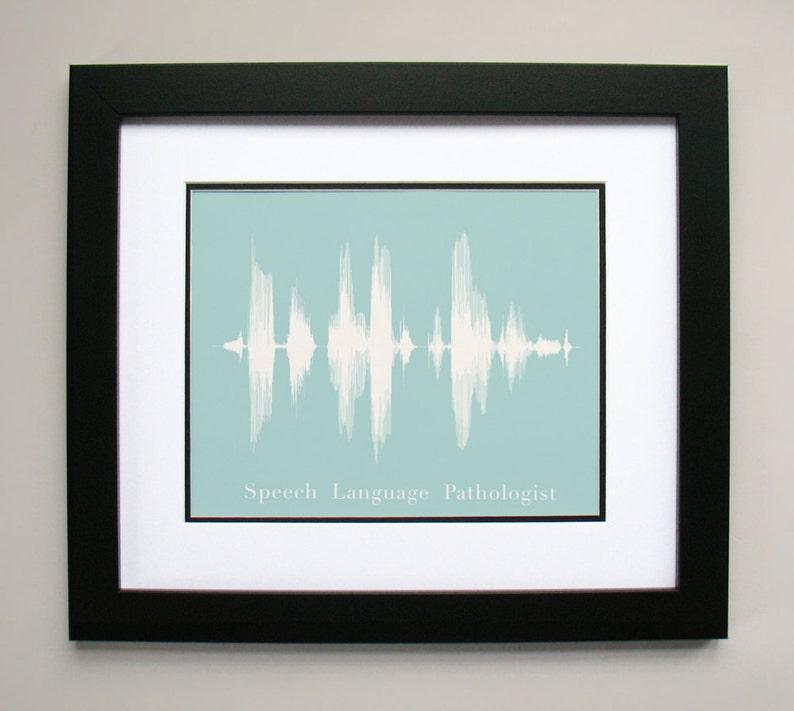 Speech Language Pathologist Gift  Sound Wave & Voice Art image 0