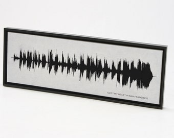 I Left My Heart In San Francisco - Sound Wave Art, Music Song Art Print