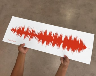 The Luckiest - Print created from song music and lyrics.  Gift Idea for Wife or Girlfriend