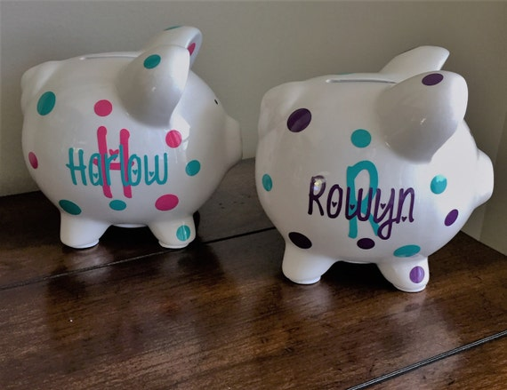 Personalized Piggy Bank Kids Piggy Bank Baby Shower Gift ...