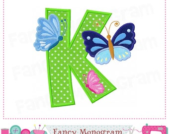 Letter K Applique Etsy