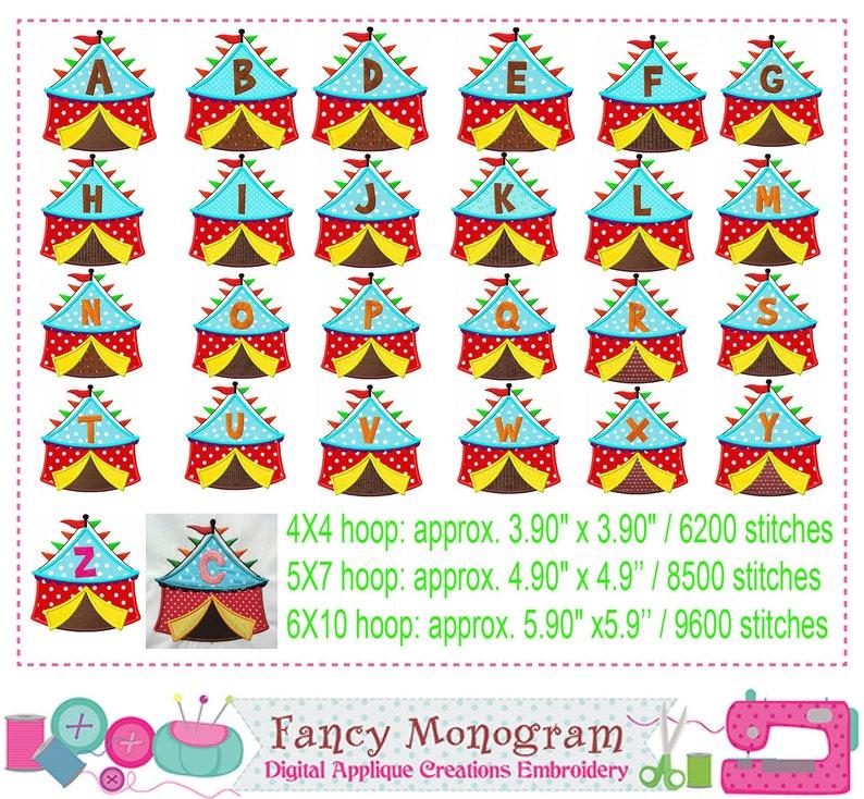 Tent Alphabet embroidery - Monograms applique - 26 Letters applique - 26  Fonts embroidery - Alphabet applique - Monogram embroidery -1615