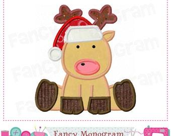 Reindeer applique,Christmas,Reindeer embroidery,Christmas applique,Christmas,New Year,Reindeer design,Santa design.-04