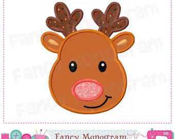 Reindeer  applique,Christmas,Reindeer embroidery,Reindeer,Christmas applique,Reindeer design,Winter,Winter applique.- 03