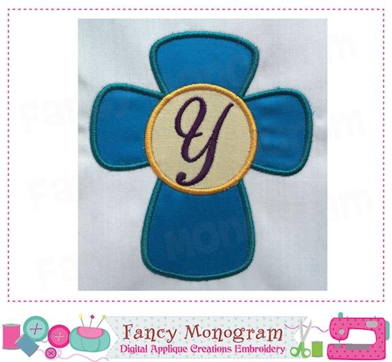 Cross Letter Y Appliquecross Monogram Y Appliqueyfont Y Etsy