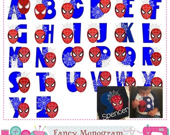 Spiderman Monograms applique,Spiderman Letters applique,Spider-Man,Alphabet,Spiderman,Birthday Letters design,Alphabet,Fonts applique.-1682