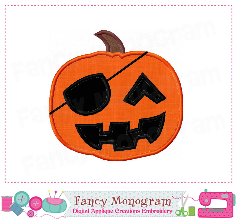 pumpkin appliquehalloween appliquepirate appliquepumpkin | etsy