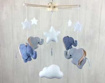 Baby Mobile Elephant Mobile Baby Crib Mobile Cloud Etsy
