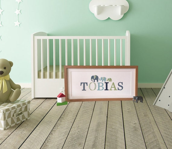 Children's Personalised Name Frame Papercut Handmade