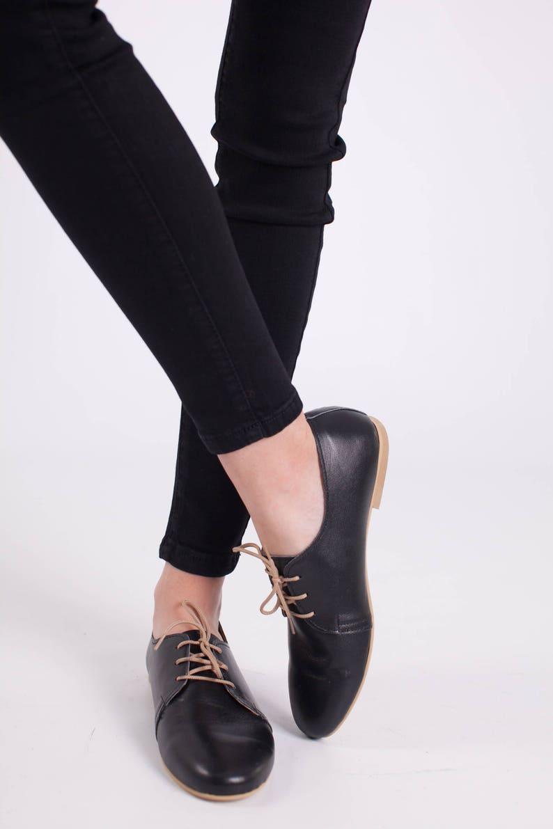 quality design 696e5 71c0d Flache Schuhe/flache Schuhe/schwarze Leder Schuhe/einzigartige  Schuhe/Krawatten-Schuhe Schwarz Oxford Frau Schuhe/Schwarz Leder  Schuhe/Leder ...